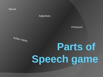 Parts of Speech Trivia Game Part 2