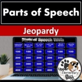 Distance Learning 8 Parts of Speech Jeopardy Style review