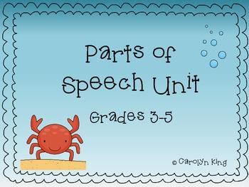 Parts of Speech Unit