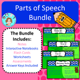 Parts of Speech Unit Bundle – Upper Elementary – No Prep,