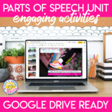 Parts of Speech Unit with Presentation, Stations, Game, an