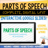 Parts of Speech Unit | Digital, Interactive Google Slides