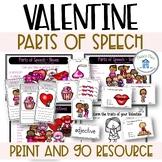 Parts of Speech Valentine Theme Nouns Adjectives Verbs