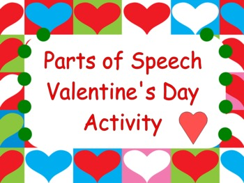 Parts of Speech:  Valentine's Game and Task Cards