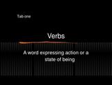 Parts of Speech - Verbs