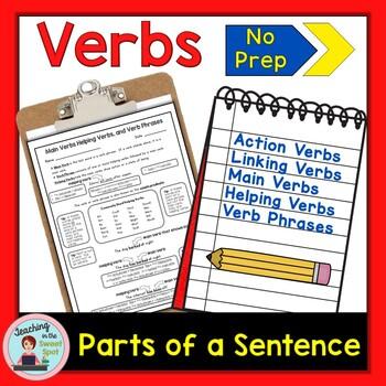 Verbs, Action Verbs, Linking Verbs, Helping Verbs, & Main Verbs