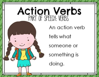 Parts of Speech: Verbs Mini Book and Poster Set