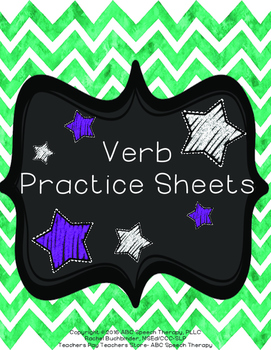 Parts of Speech: Verbs (Printable Packet: Speech Therapy, Classroom, Homework)