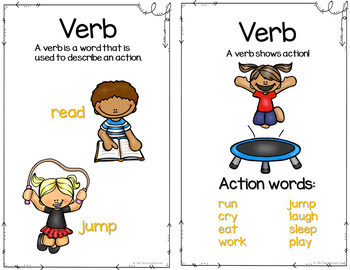 Verbs for Beginners Centers and Activities
