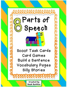 Parts of Speech Task Cards Activities