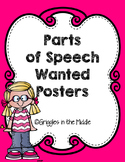 Parts of Speech Wanted Poster Activity