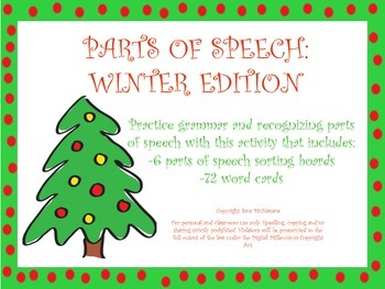 Parts of Speech: Holiday Edition