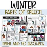 Parts of Speech Winter Theme Nouns Verbs Adjectives