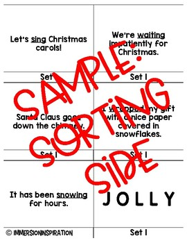 Parts of Speech Word Puzzles-Christmas themed