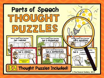 Parts of Speech Thought Puzzles Bundle