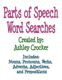 Parts of Speech Word Searches