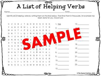 Parts of Speech Word Searches: Set 2- Verbs