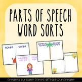 Parts of Speech Word Sort (Nouns, Verb, Adjectives, and more)