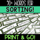 Parts of Speech Word Sort - St. Patrick's Day Game