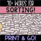 Parts of Speech Word Sort - Valentine's Day Theme