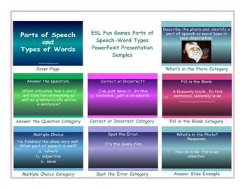 Parts of Speech-Word Types PowerPoint Presentation