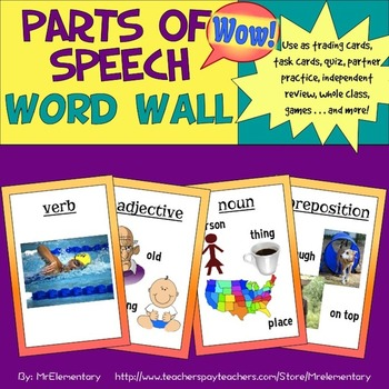Parts of Speech Word Wall