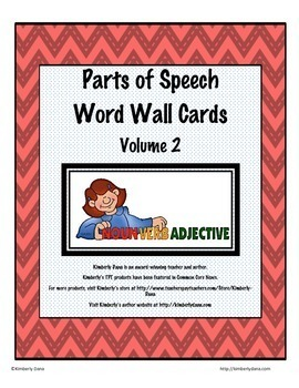 Parts of Speech Word Wall Bundle