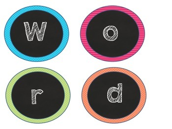 Parts of Speech Word Wall {Chalkboard and Brights}