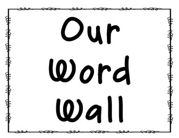 Parts of Speech Word Wall Headers
