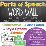 Parts of Speech Word Wall, Activities and Posters | Watercolor Design