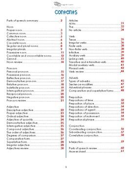 Parts of Speech Workbook