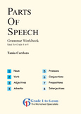 Parts of Speech Workbook from BeeOne Books