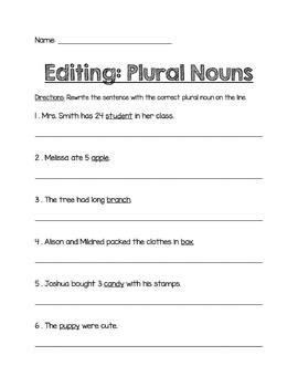 Parts of Speech Worksheet Bundle