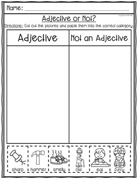Distance Learning Parts of Speech Worksheets- Nouns, Verbs, Adjectives