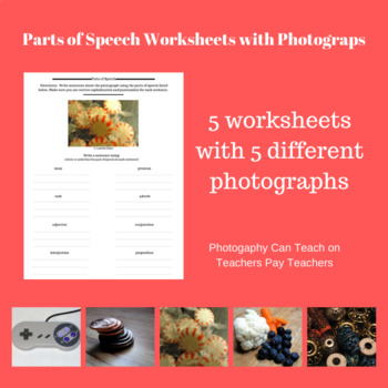 Parts of Speech Worksheets with Photographs