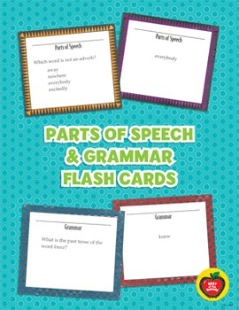 Parts of Speech and Grammar Flash Cards