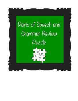 Parts of Speech and Grammar Review Puzzle