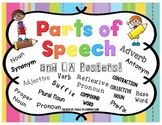 Parts of Speech and Language Arts Posters or Anchor Charts