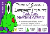 Parts of Speech and Language Features Task Card Matching Pack