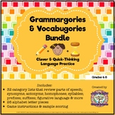 Parts of Speech and Language Review: Grammargories and Voc