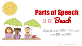 Parts of Speech at the Beach: Booklet , Bingo , Bingo Dot , Word Scramble & More