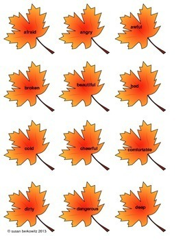 Parts of Speech for All Seasons: Game & Sorting Activity; ELA, Speech Therapy
