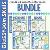 Parts of Speech Grammar for Beginners Nouns, Verbs, Adjectives  BUNDLE