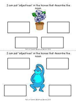 Parts of Speech Nouns, Pronouns, Verbs, Adjectives  BUNDLE