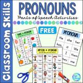 Parts of Speech Grammar for Beginners Pronouns FREE