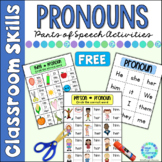 Parts of Speech Pronouns FREE Distance Learning