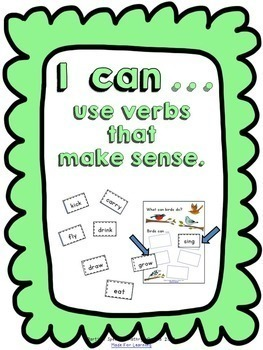 Parts of Speech Action Verbs