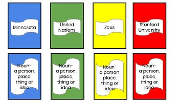 Parts of Speech game cards