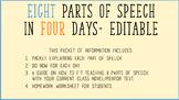 Parts of Speech in 4 Days!