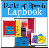 Parts of Speech grammar worksheets & lapbook: nouns, verbs, adjectives, and more